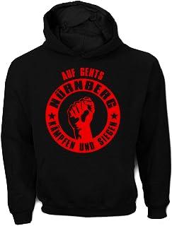 Artdiktat Herren Hoodie Auf geht´s Nürnberg kämpfen und S