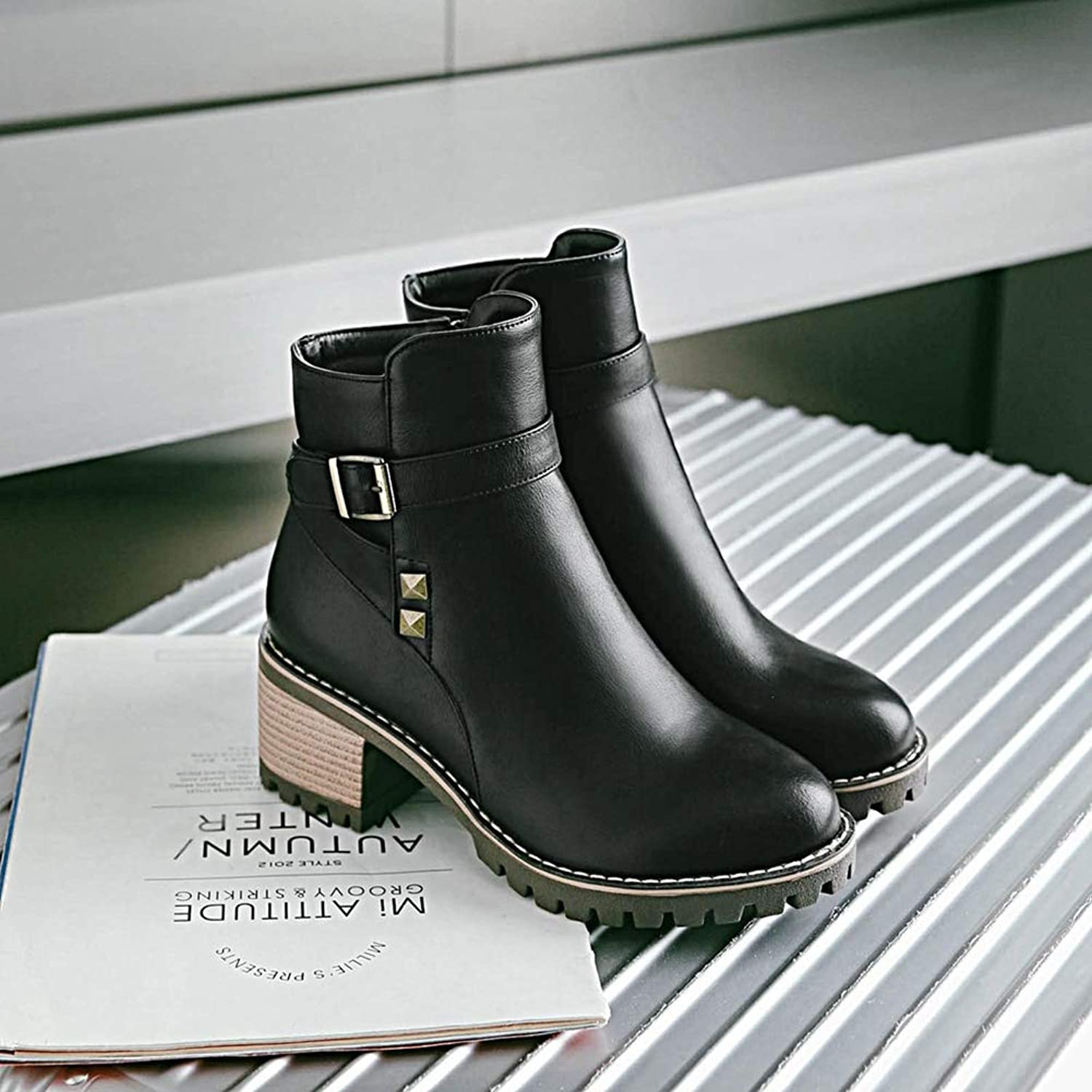 T-JULY Half Short Snow Boots for Women with Thick Fur shoes High Heel Boots Cold Winter Botas Footwear Ankle Boots