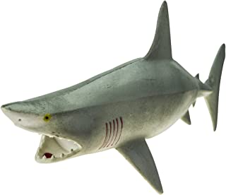 "Rockin Gear Toy Shark - Great White Shark - Rubber Toy Figure - Rubber Shark 9"" Inch - Squeeze The Shark to Hear it Squeal..."