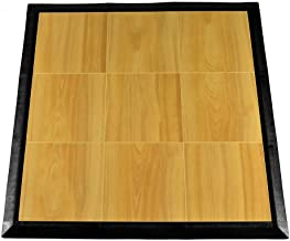 Greatmats Portable Interlocking Wood Grain 3x3 Ft Dance Floor Kit for Tap Clogging Ballroom Hip Hop Dancing Studios Events, 9 Pack