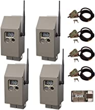 Cuddeback CuddeSafe Security Box for J-Series Trail Cameras with Master Lock Cable Lock Kit, 4-Pack