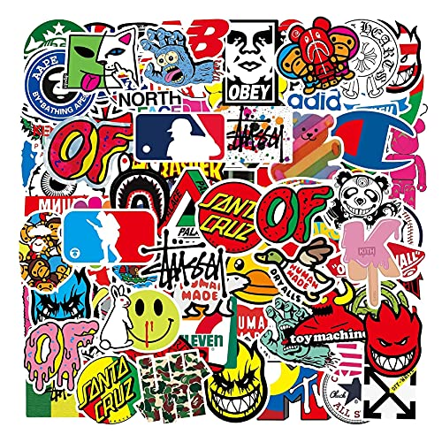 Cool Stickers 101 Pack Decals for Laptop Computer Skateboard Water...