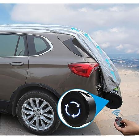 Suaibei Automatische Autoabdeckung Intelligenter Sonnenschutz Automatische Erweiterung Ferngesteuerter Auto Mantel Sonnenschutz Regen Kratzfestigkeit Geeignet Für 4 Jahreszeiten 2 Sport Freizeit