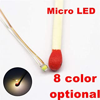25pcs Pre-soldered Micro Litz Wired Leads Warm White SMD Led 0603 + Muti-Resistor New