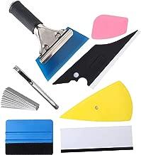 Car Window Film Tinting Tools, Auto Vinyl Wrap Installation Kit, Precut/Auto Window Tint Kit, 8 in 1 Kit with Felt Squeegee&Felts, Window Tint Squeegee, Vinyl Squeegee, Utility Knife&Blades
