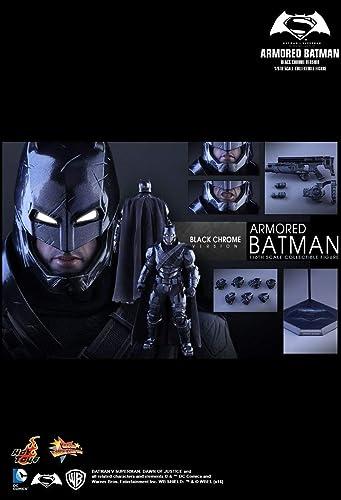 Hot Toys MMS356 - DC Comics - ArmGoldt Batman schwarz Chrome Version