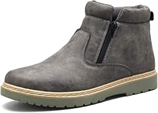 SHENYUAN Men's Ankle Boots Casual Wrap Side Zipper Leisure Home Shoes Work or Casual Wear (Color : Gray, Size : 39 EU)