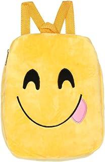 Wultia - Women Wallets Men Wallets Womens Cute Emoji Emoticon Shoulder School Child Bag Satchel Rucksack portefeuille fe *0.92 A