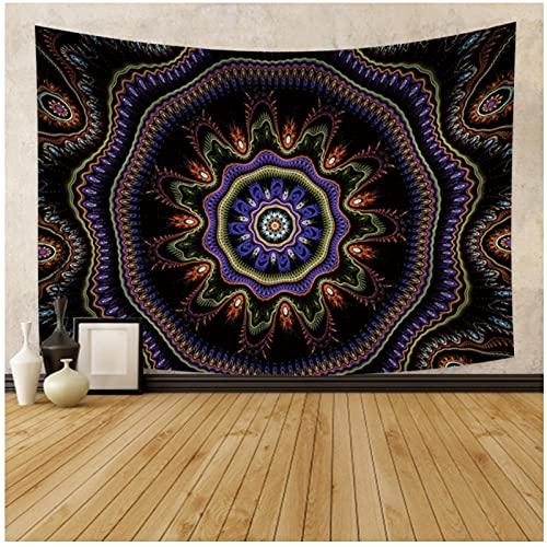 Tapiz by BD-Boombdl Tapiz de mandala bohemio montaje en pared alfombra de playa manta tienda de campaña colchón de yoga de viaje 59.05'x78.74'Inch(150x200 Cm)