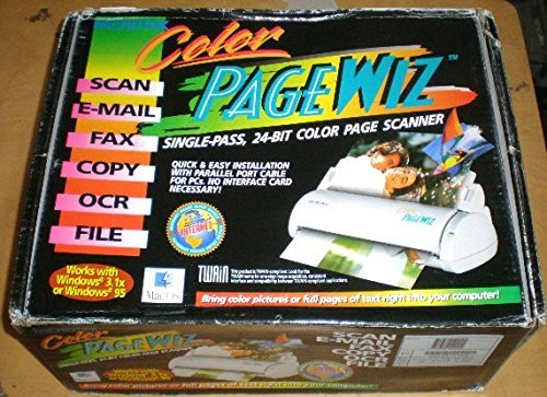 Review Of Microtek Color Pagewiz Portable Color Scanner - Parallel Port Connection