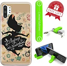 [Ashley Cases] for Galaxy [Note 10] Cover Case Skin with Flexible Phone Stand - Alice in Wonderland Shadow Falling