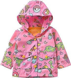 Cute Coat Jacket with Hood Outwear-RQWEIN Unisex Baby Winter Coats Dinosaur Star Lined Hoodie Jackets