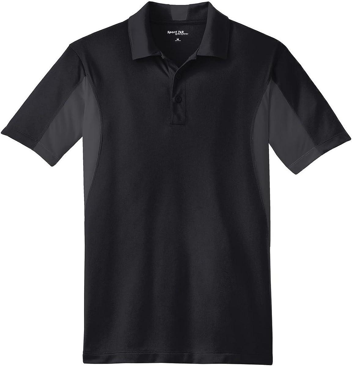 Sport-Tek Men's Big And Tall Performance Polo Shirt_Black/ Iron Grey_2XLT