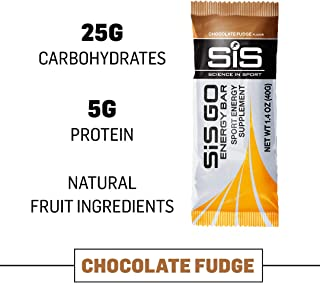 Science in Sport Go Energy bar | Chocolate Fudge Flavor - Carbohydrate Endurance Snack bar -20 Pack (40g)
