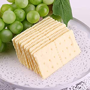 HTFGNC 10PCS Artificial Lifelike Soda Crackers Fake Food Model Photography Prop for Home Party Decoration