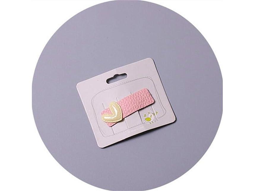 記念碑服を洗う勝利したOsize 美しいスタイル 子供用バングクリップかわいいキャンディーカラープリンセスクラウンボールミニヘアピン(ピンク)