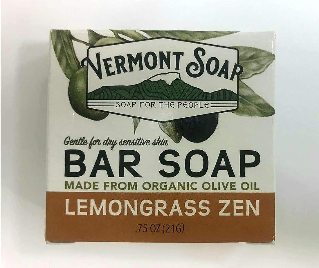 ファンブル煙ワゴンVermontSoap バーモントソープ トラベルサイズ 2種類 (レモングラス) 21g オーガニック石けん 洗顔 ボディー