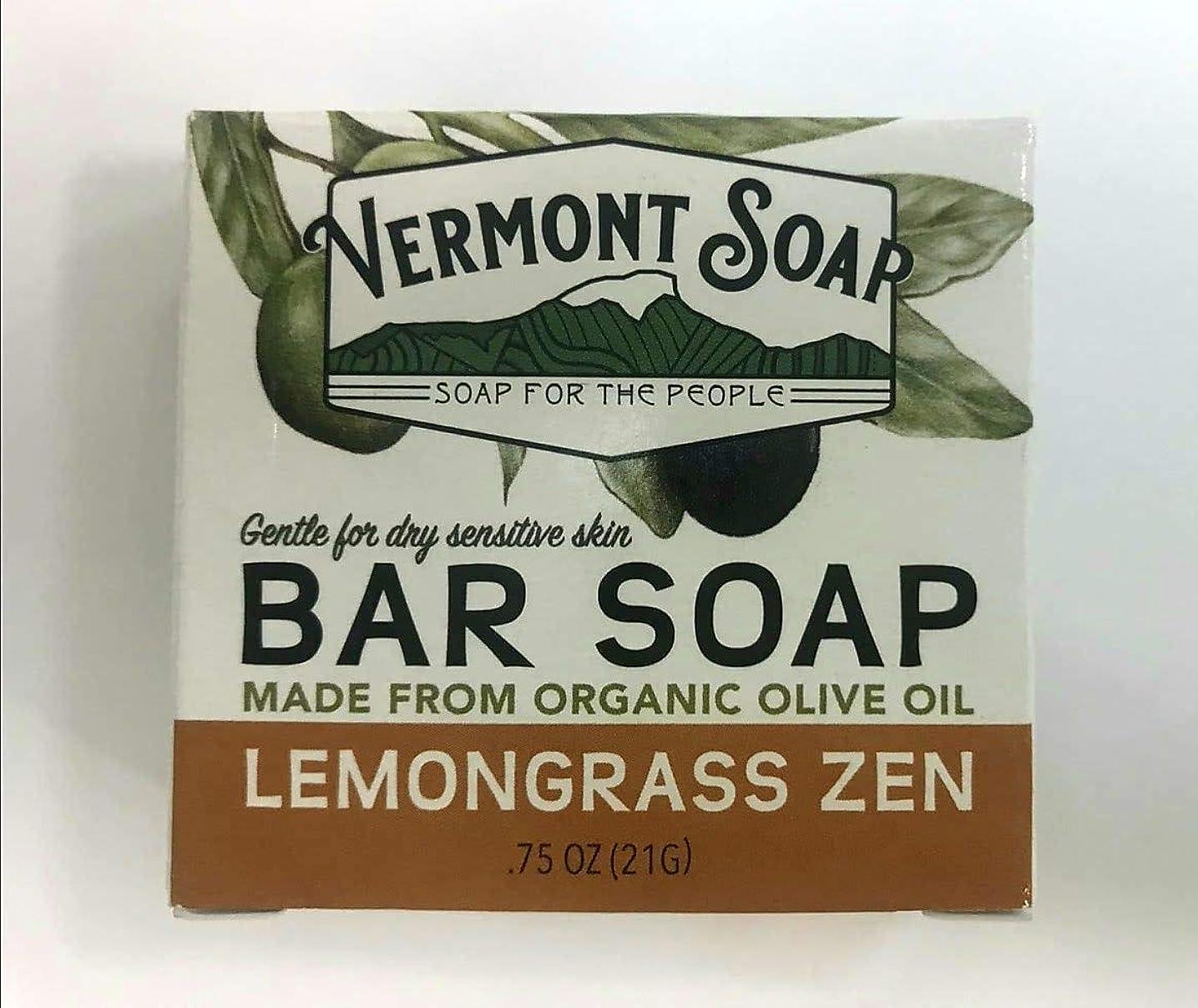 壮大なトロイの木馬住所VermontSoap バーモントソープ トラベルサイズ 2種類 (レモングラス) 21g オーガニック石けん 洗顔 ボディー