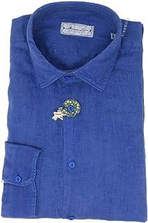 ALESSANDRO LA MURA Camisa 100% lino lavado manga larga