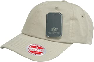 Soul Supply Unisex Unstructured Cotton Plain Blank Dad Hat Baseball Polo Cap 601