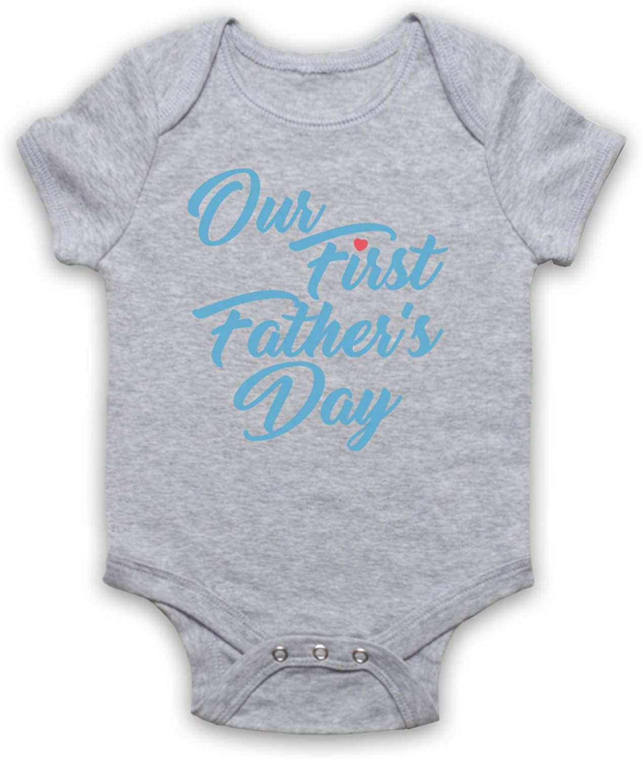 My Icon Unisex-Babys Our First Fathers Day Baby Son Baby Grow