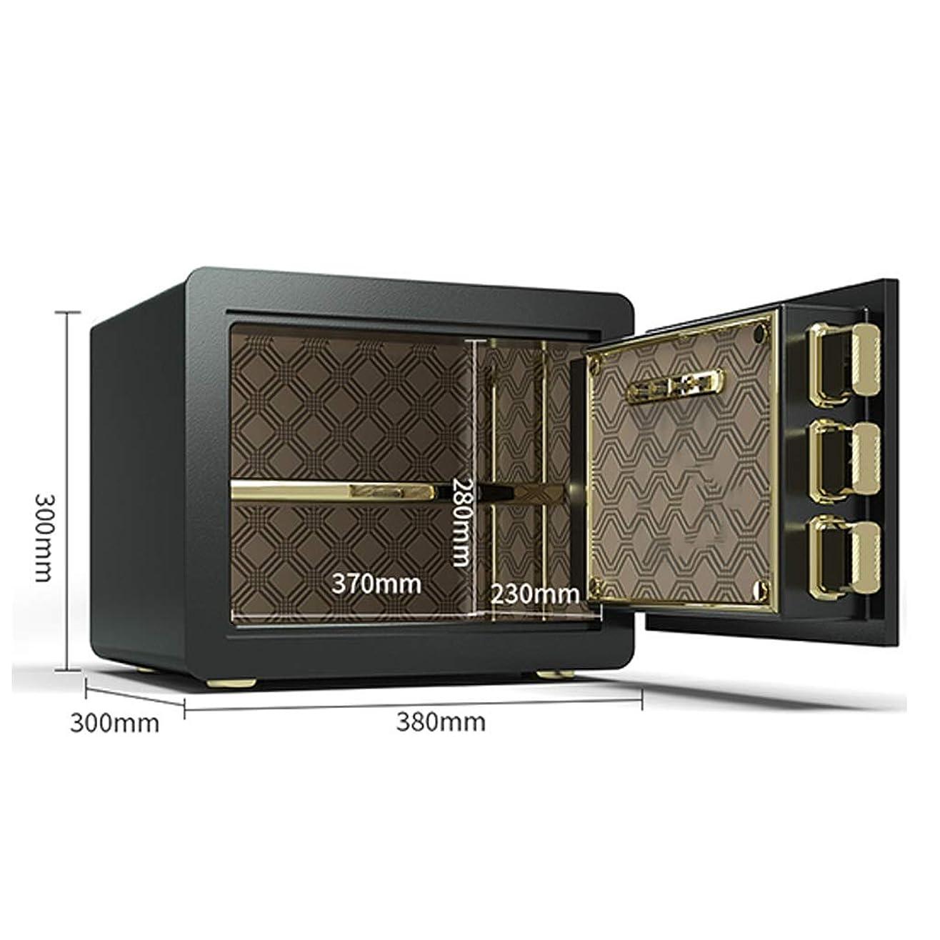 勇気のある森林バクテリアパーツボックス 安全な隠しベッドサイドテーブル指紋電子パスワードロック解除の小型家電ストレージ内閣府の重要な文書 (Color : Black, Size : 38*30*30cm)