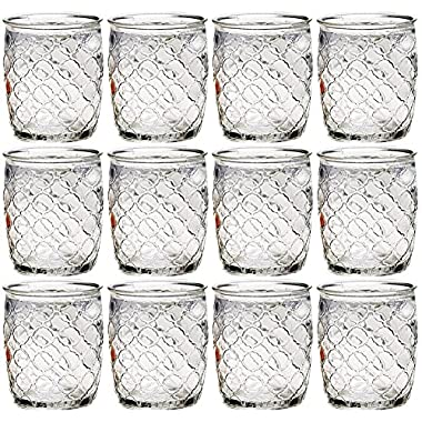 Set of 12 Circleware Garden Gate Clear DOF Drinking Glasses Set, 14 Ounce, Limited Edition Glassware Drinkware Barware Drink Juice Whiskey Cups