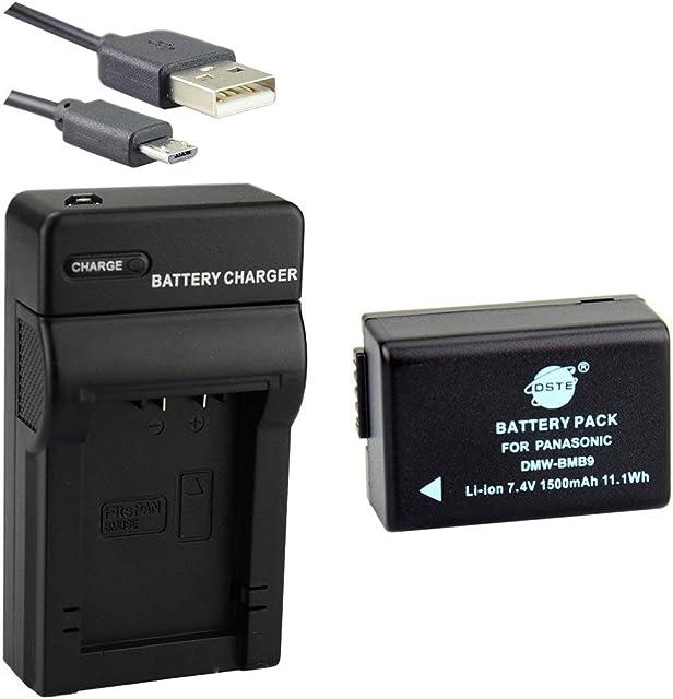 DSTE DMW-BMB9 Li-Ion Batería Traje y Cargador Micro USB para Panasonic Lumix DMC-FZ40 DMC-FZ45 DMC-FZ47 DMC-FZ48 DMC-FZ60 DMC-FZ62 DMC-FZ70 DMC-FZ72 DMC-FZ80 DMC-FZ100 DMC-FZ150