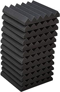 """12 پانل فوم صوتی ، 12 """"X 12"""" X 2 """"دیوار ضد صدا صدا کاشی های عایق صوتی عایق صدا ، ایده آل برای خانه"""