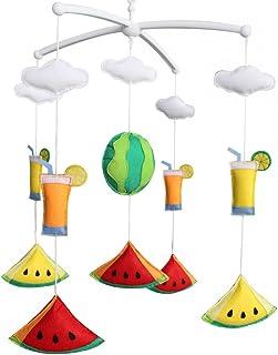 Mobile bébé Mobile Berceau Mobile musical fait main Décoration suspendue colorée Melon d'eau et jus de fruits