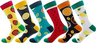 Goneryisour Fashion New Unisex Couple Socks - Funny Newness Cotton Crew Socks - Colored Fruit Lemon Skateboard Hosiery 6 P...