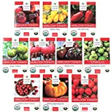 Heirloom Tomato Seeds Assortment - Ten Organic and Non-GMO Varieties:...