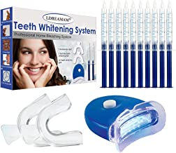 Teeth Whitening Kit,Tooth Whitening Gel,Teeth Whitening Gels Kit Set with Led Light Professional Home Teeth Bleaching Kit - Perfect Home Teeth Whitening System