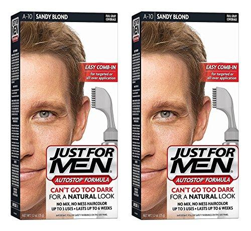Just for Men JUSTE POUR HOMMES AutoStop Foolproof Couleur des cheveux, Sandy Blond A-10 1 ch (pack de 2)