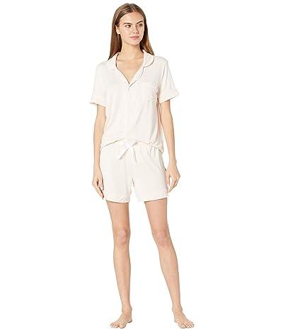 Kickee Pants Short Sleeve Collared Pajama Set with Shorts