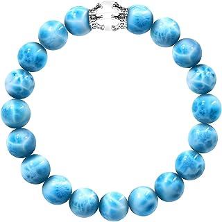 MstyleMrule Beaded Bracelets for women 10mm Sea Stone Crown Elastic Bracelet Yoga Bracelet