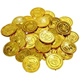 GOLDGE 50 pcs Gold-Münzen Spielgeld für Kinder Spielzeug Mitgebsel mit Kindergeburtstag kleine Geschenk für Party