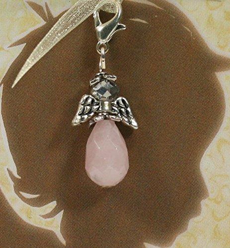 Bijoux Pendentif Bracelet à breloques Ange & quartz rose * Nouveau *, Bettelarmband & Rosenquarz-Engel