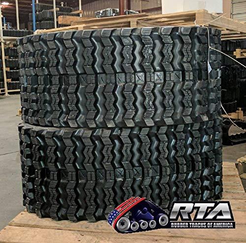 Two Rubber Tracks for Bobcat T180 T190 T550 T590 T595 320X86X49 Zig Zag Tread 13