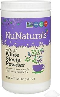 NuNaturals White Stevia Powder, All Purpose Natural Sweetener, Sugar Free, 12 Ounce Jar