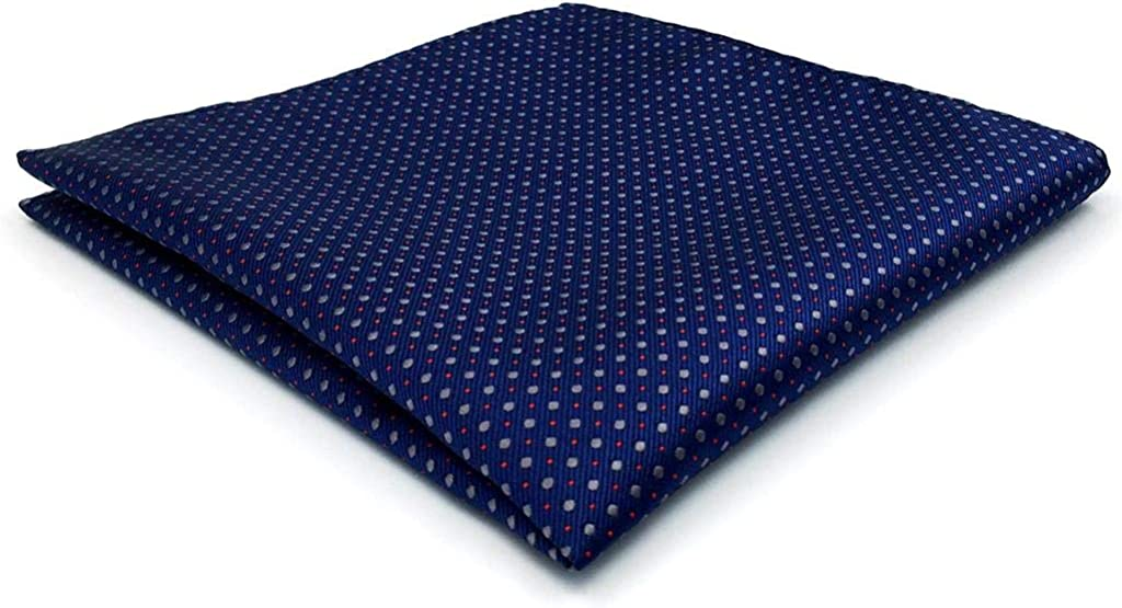 SHLAXWING Navy Dots Pocket Square Business Silk New item Handker online shopping for Men