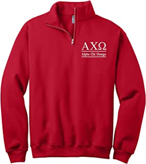 Alpha Chi Omega Quarter Zip Pullover Sweatshirt