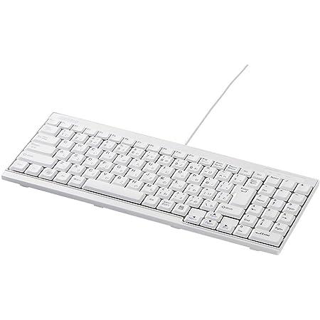 BUFFALO USB接続 有線スリムキーボード ホワイト BSKBU14WH