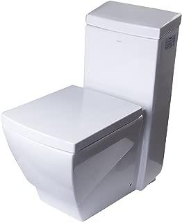 EAGO TB336 High Efficiency Eco-Friendly Toilet, 1-Piece