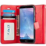 J&D Compatible pour Coque Huawei Honor V9/Huawei Honor 8 Pro, [Stand de Portefeuille] Etui...