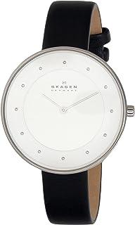 Skagen Women's Silver Dial Leather calfskin Band Watch [SKW2232]