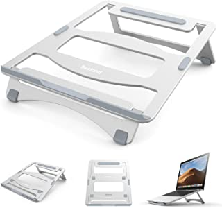 Bestand Laptop Stand Adjustable Portable Laptop Holder for MacBook Laptop Desk Notebook, 10-15.6 inches (Silver)