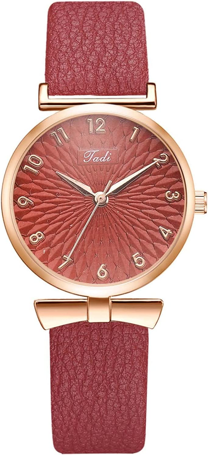 Geceomi8 sold out Women's Fresno Mall Wine red Watches Heart Quartz Movement Diamond