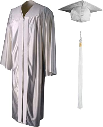 Shiny Graduation Gown, Cap and Tassel Set - Unisex Adult Teen Graduation Robe