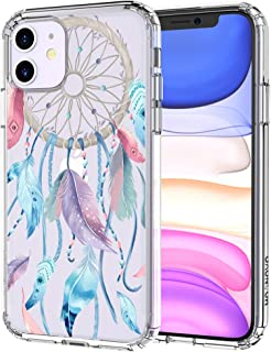 MOSNOVO iPhone 11 Case, Dream Catcher Pattern Clear Design Transparent Plastic Hard Back Case with TPU Bumper Protective Case Cover for Apple iPhone 11 (2019)